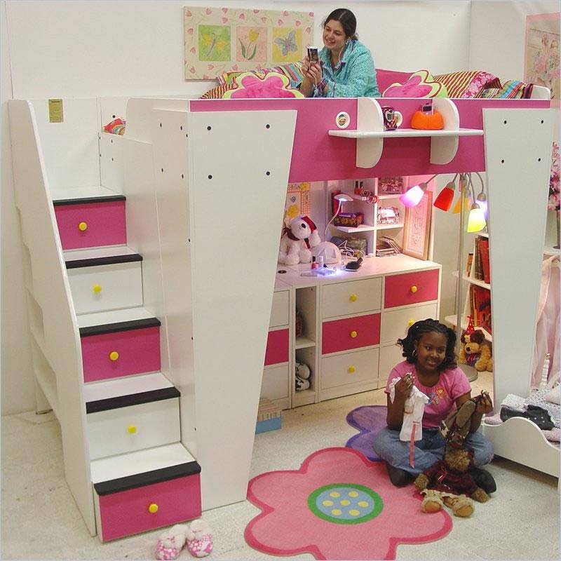 Kids Loft Bed with Storage