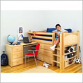 Maxtrix Twin Low Loft Bed with Desk