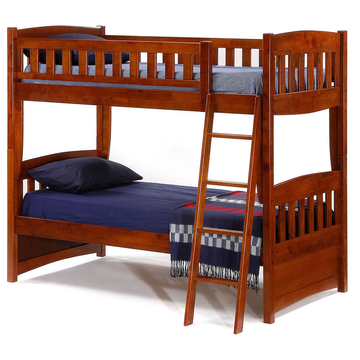 Cherry Bunk Beds Twin With Stairs Bedding